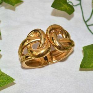 Large Gold Twist Bracelet